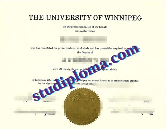 fake University of Winnipeg diploma
