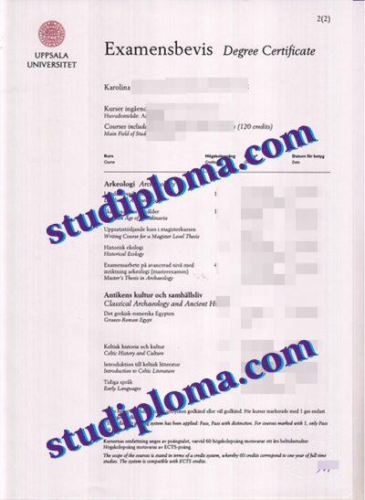 Uppsala University diploma