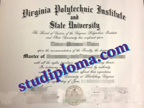fake Virginia Polytechnic Institute and State University diploma