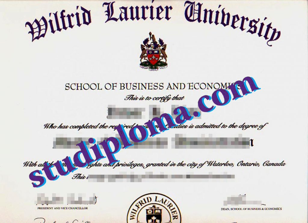 fake WLU degree certificate