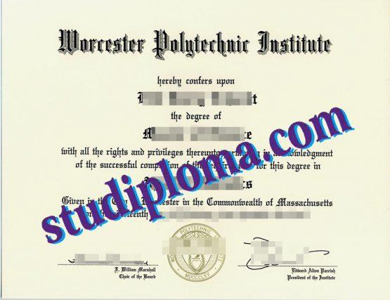 fake WPI degree certificate