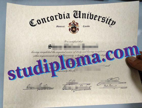 buy Concordia University diploma