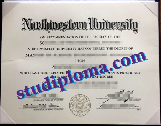 fake Northwestern University diploma