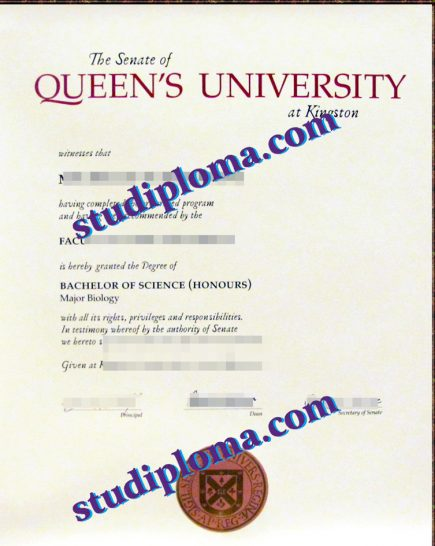 Queen's University fake degree