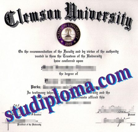 buy Clemson university diploma