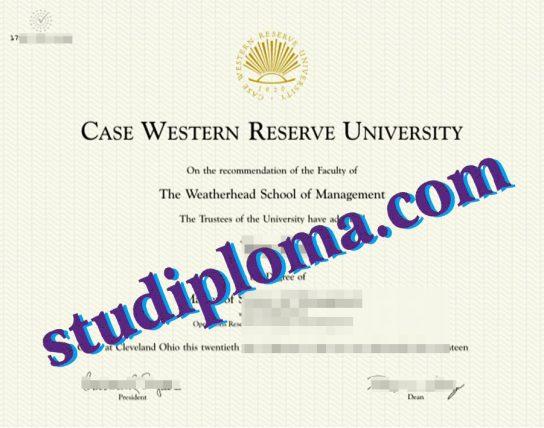 fake Case Western Reserve University diploma