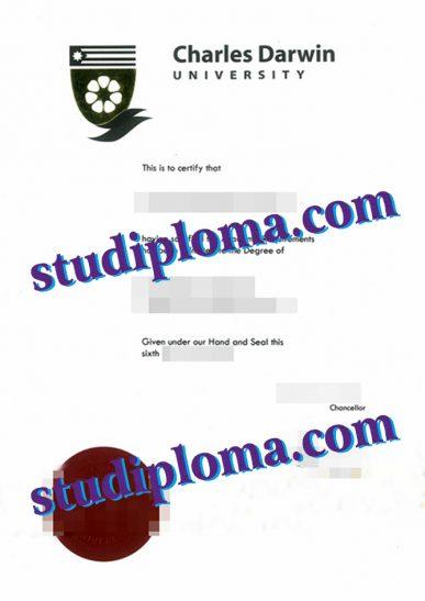 fake Charles Darwin University diploma