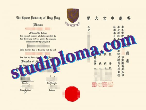 fake Chinese University of Hong Kong degree