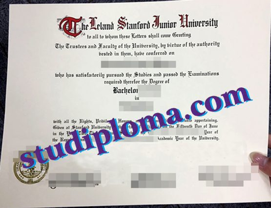 fake Stanford University degree certificate