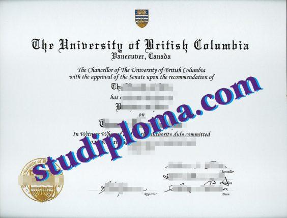 fake UBC diploma