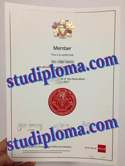 fake ACCA certificate