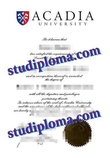 Acadia University diploma