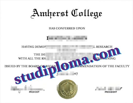 buy Amherst College diploma
