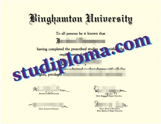 Binghamton University diploma
