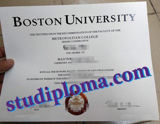 Boston University diploma