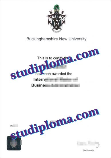 Buckinghamshire New University degree