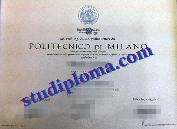 fake University of Milan diploma