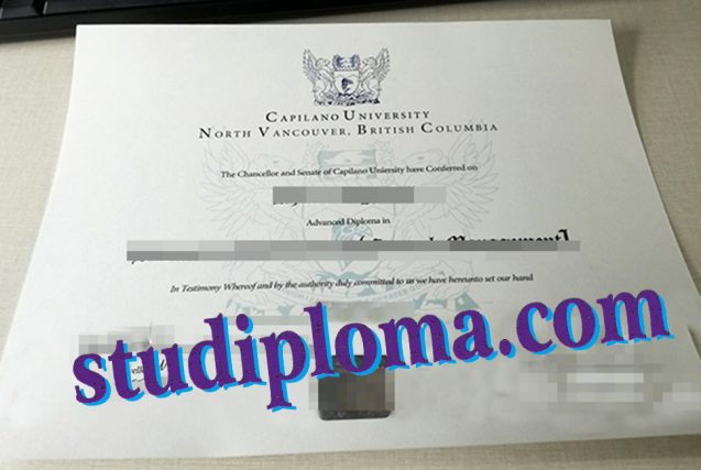 fake Capilano University diploma