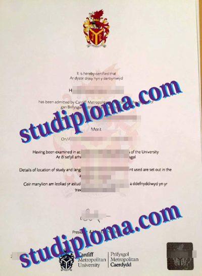 buy Cardiff Metropolitan University degree