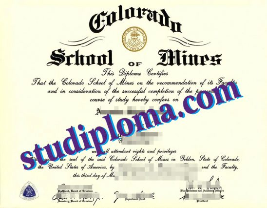 fake Colorado School of Mines degree