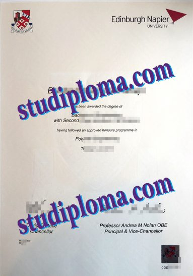 buy Edinburgh Napier University fake diploma