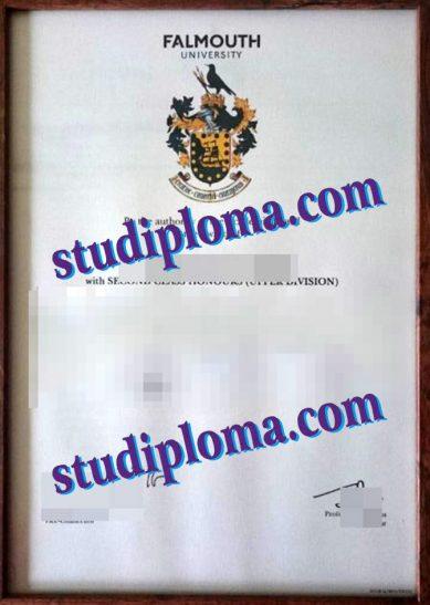 Falmouth University fake diploma
