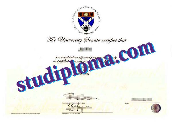 buy Glasgow Caledonian University diploma