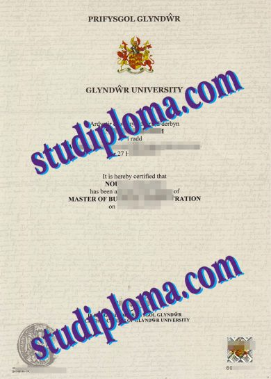 Glyndwr University certificate