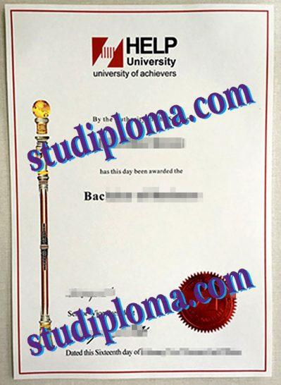 buy HELP University degree certificate
