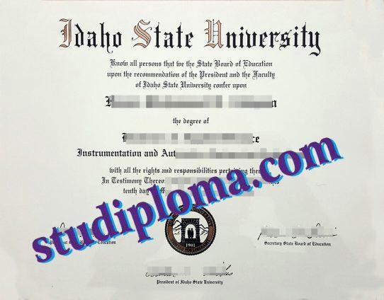 fake ISU diploma