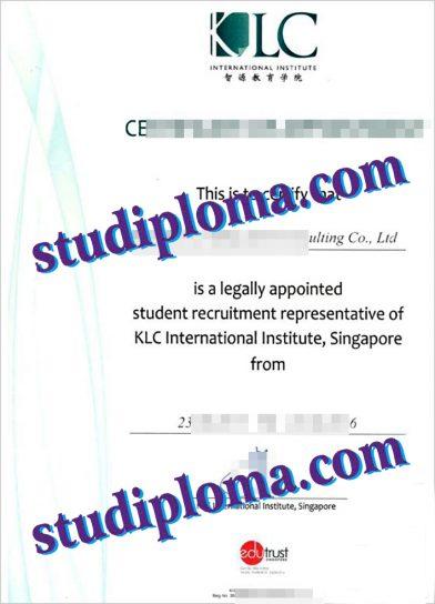fake KLC International Institute degree