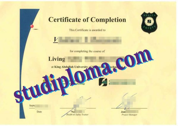 King Abdullah University of Science and Technology fake diploma