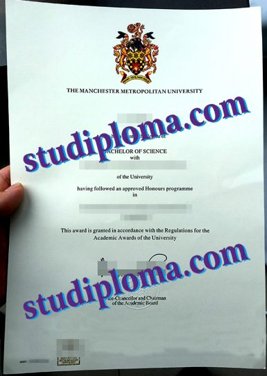 Manchester Metropolitan University diploma
