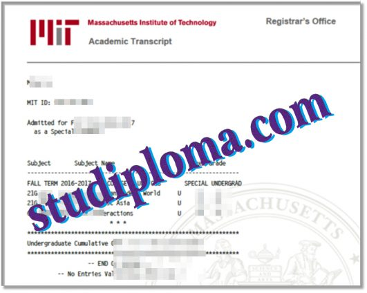 buy MIT fake transcript