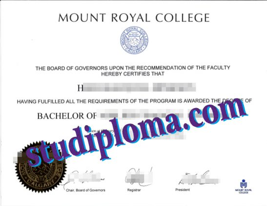Mount Royal College diploma