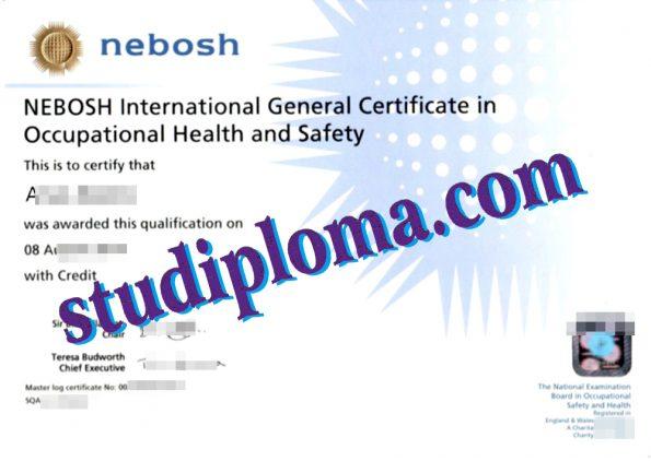 fake NEBOSH International diploma
