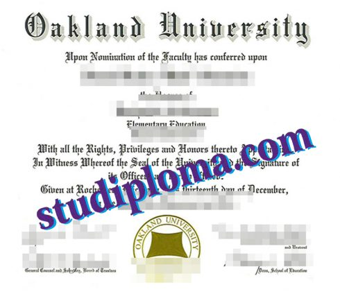 fake Oakland University degree
