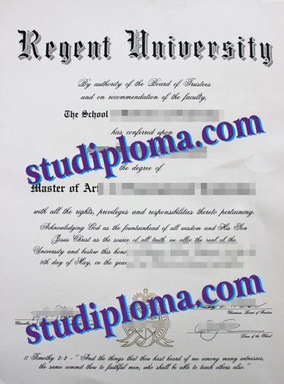 Regent University degree