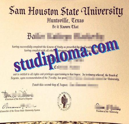 fake SHSU degree