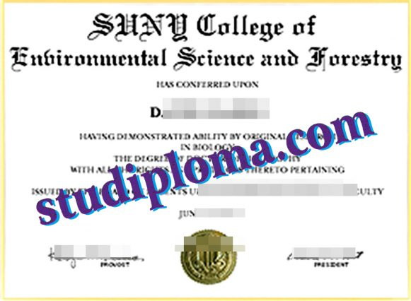 SUNY-ESF fake certificate