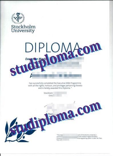 Stockholm University diploma