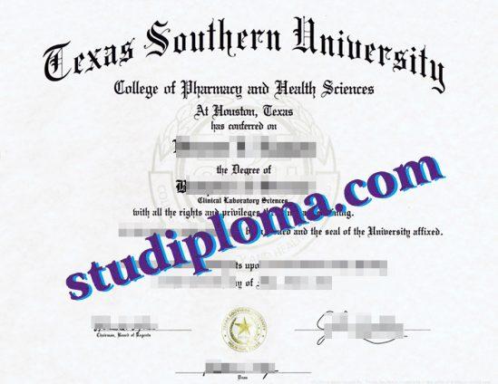 Texas Southern University fake diploma