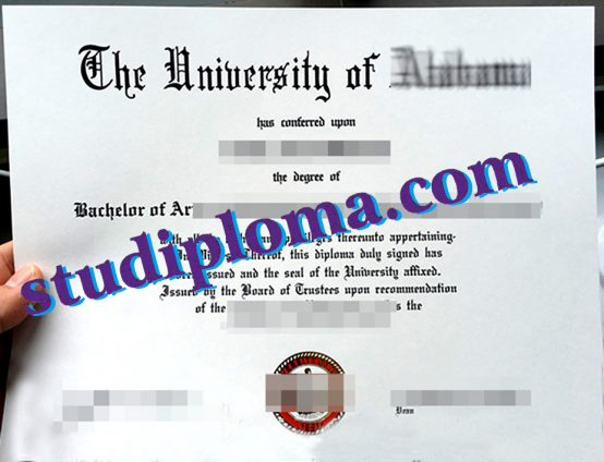 University of Alabama diploma