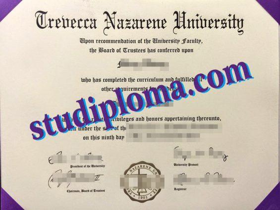 buy Trevecca Nazarene University certificate