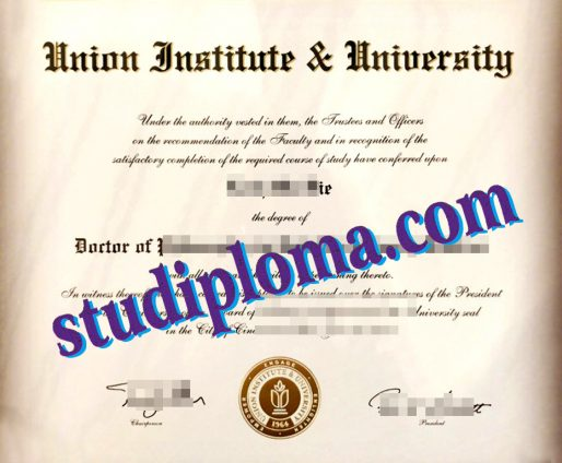 Union Institute & University certificate