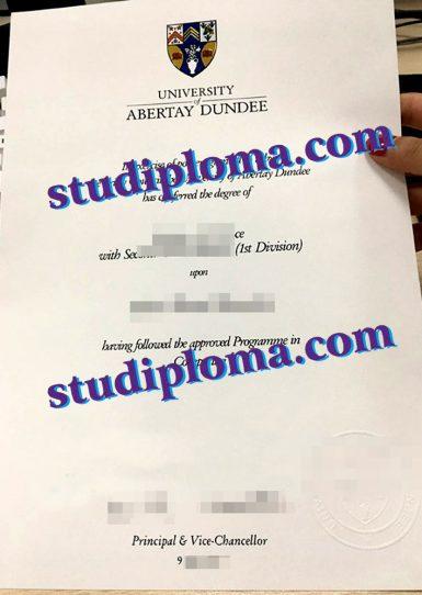 University of Abertay fake diploma