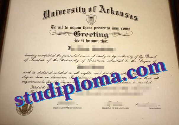 buy University of Arkansas degree certificate