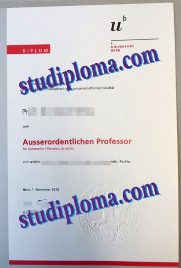 fake University of Bern degree