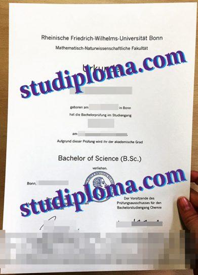 University of Bonn degree certificate