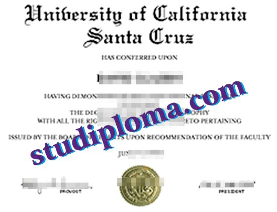 University of California, Santa Cruz diploma